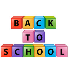 Back to school on square boxes vector