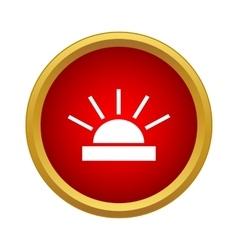Bright sun icon simple style vector
