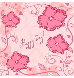 Frame flowers background vector image vector image