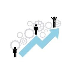 growth business concept icon vector image vector image