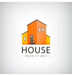 house logo real estate vector image vector image
