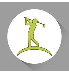 Icon of golf design vector