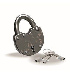 Lock and keys vector image