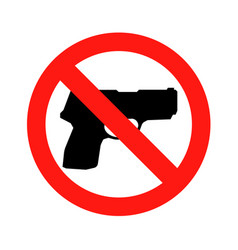 no gun sign - isolated vector image