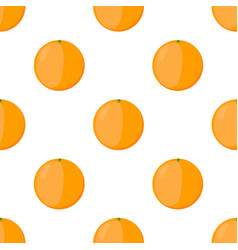 Orange seamless pattern vegetarian fresh food vector