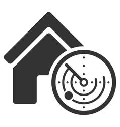 Realty radar flat icon vector
