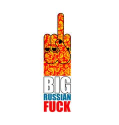 russian big provocative emblem hand shows vector image