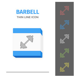 simple line stroked two barbell icon vector image vector image