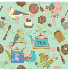 teatime background vector image vector image