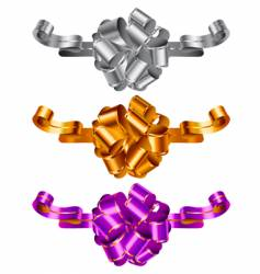 three color decorative bows vector image
