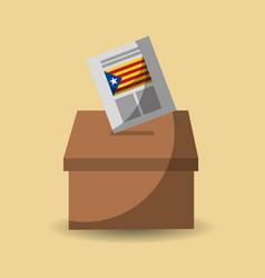 Vote box ballot catalonia democracy referendum vector