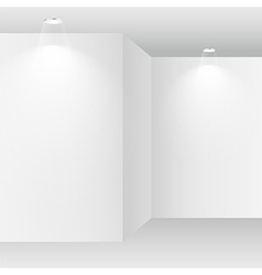 Empty white room with spot lights vector