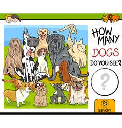 counting task with dogs vector image