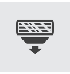 Razor head icon vector