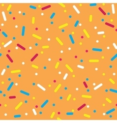 Colorful sprinkles donut glaze seamless pattern vector