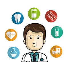 Health professional avatar character vector