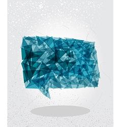 Blue social bubble geometric shape vector