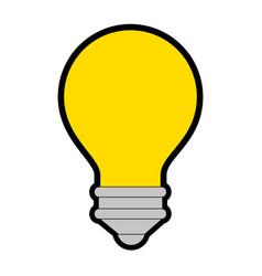 Light bulb design vector