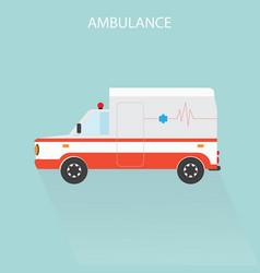 Ambulance car emergency medical service vector