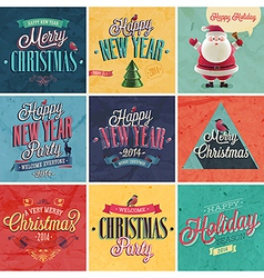 christmas set vector image