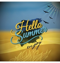Hello summer blurred background vector