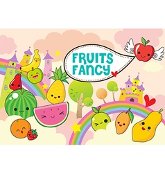 Fruits fancy vector