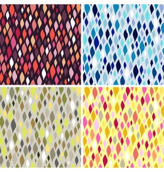 Colorful tiles abstract seamless pattern vector