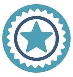 Medal seal icon from competition  success bicolor vector