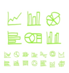 Highlighter elements - hand drawn set of vector