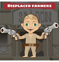Fictional cartoon character - displaced farmers vector