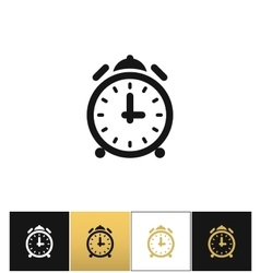 Alarm clock with bells icon vector
