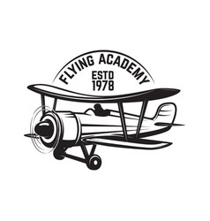 aviation training center emblem template with vector image vector image