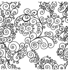 Black swirls on a white background vector