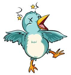 Blue baby bird vector
