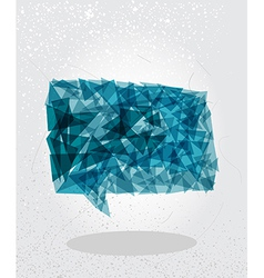 Blue social bubble geometric shape vector image vector image