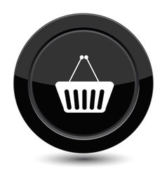 Button with shop cart vector