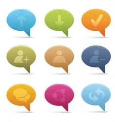 chat media icons bubble vector image vector image