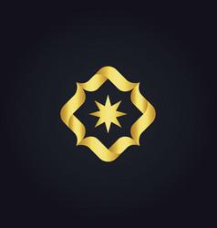 Circle star gold logo vector
