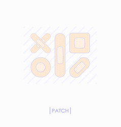 collection of different patch icons vector image vector image