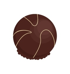 decorated candy chocolate icon vector image vector image