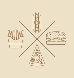 Design elements for Logo of Fast Food vector image