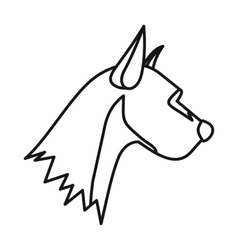 Dog icon outline style vector
