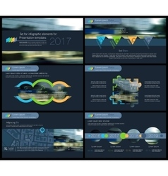 Elements of infographics for presentations vector image vector image