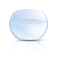 Empty Glass Vase or Round Aquarium vector image vector image