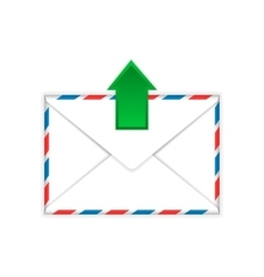 Envelope with outgoing message sign flat icon vector image vector image