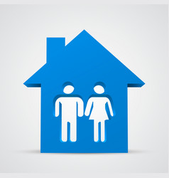 Family icon and house vector