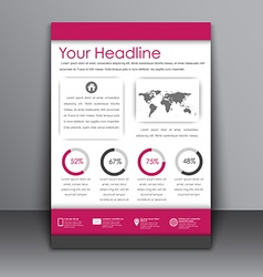 Flyer in the style of the material design vector