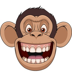 Happy monkey head vector