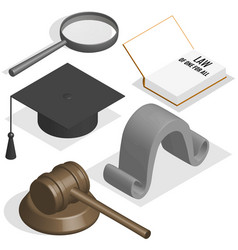 judge set in 3d vector image