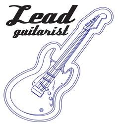 Lead guitarist vector